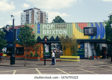 London / UK - July 16, 2019: Pop Brixton - space that showcases the most exciting independent businesses from Brixton and Lambeth