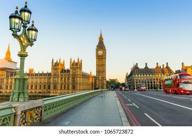 London, UK - July 16,2016 - Big Ben in London in the morning