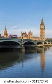 London, UK - July 19, Big Ben in London, July 19.2014 in London