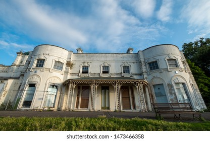 London UK, July 2019. Dilapidated building awaiting renovation at Gunnersbury Park and Museum on the Gunnersbury Estate, once owned by the Rothschild family, now owned by Hounslow and Ealing Councils.
