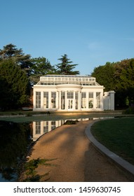 London UK, July 2019. Orangery by the lake at newly renovated Gunnersbury Park and Museum on the Gunnersbury Estate, once owned by the Rothschild family, now owned by Hounslow and Ealing Councils.
