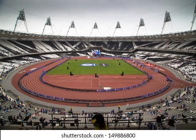 LONDON, UK - JULY 21: Inside the London Olympic Stadium' in London on the July 21, 2013 in London, UK