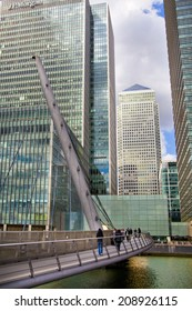 LONDON, UK - JULY 24, 2014: Modern architecture City of London the leading centre of global finance, headquarters for leading banks, insurance, stock exchange, media, law and other businesses.