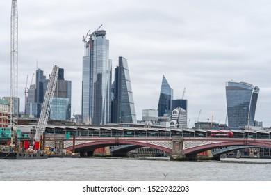 London, UK, July 28, 2019. The Millennium Bridge, officially known as the London Millennium Footbridge, is a steel suspension bridge for pedestrians crossing the River Thames in London