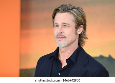 """LONDON, UK. July 30, 2019: Brad Pitt at the UK premiere for """"Once Upon A Time In Hollywood"""" in Leicester Square, London.Picture: Steve Vas/Featureflash"""