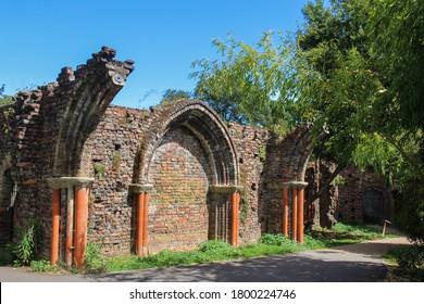 London / UK - July 30 2020: Gunnersbury Park Gothic Ruins in West London