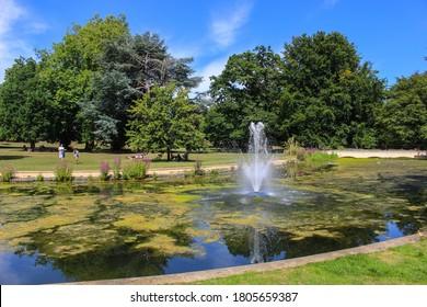 London / UK - July 30 2020: Gunnersbury Park Lake and Garden in Hounslow, West London