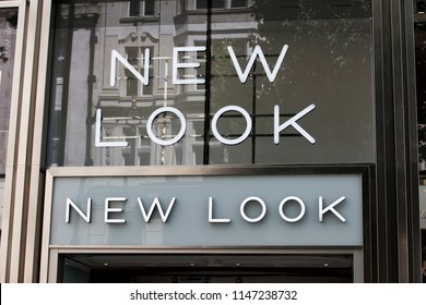 LONDON, UK - JULY 31th 2018: New Look clothes shop store on Oxford Street in central London.