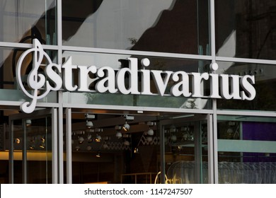 LONDON, UK - JULY 31th 2018: Stradivarius cloting brand shop on Oxford Street in central London.