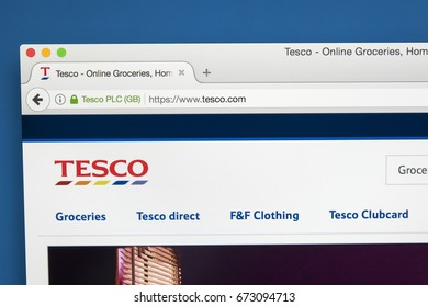 LONDON, UK - JULY 5TH 2017: The homepage of the official website for Tesco - the British multinational grocery and general merchandise retailer, on 5th July 2017.