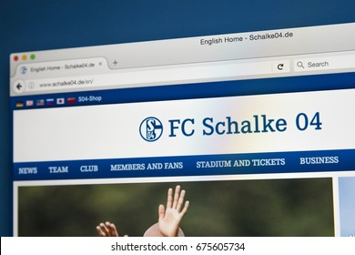 LONDON, UK - JULY 5TH 2017: The homepage of the official website for FC Schalke 04, on 5th July 2017.