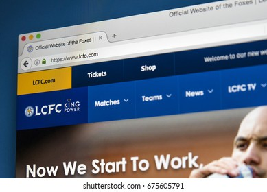 LONDON, UK - JULY 5TH 2017: The homepage of the official website for Leicester City FC, on 5th July 2017.
