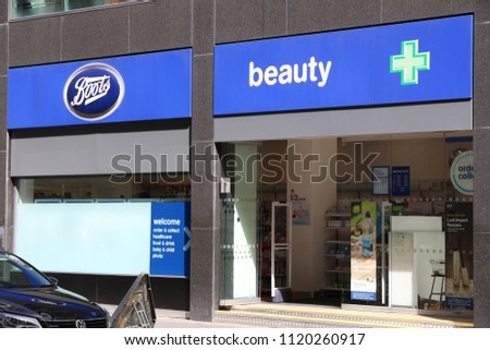 shades of huge sale fresh styles LONDON UK JULY 6 2016 Boots Stock Photo (Edit Now ...