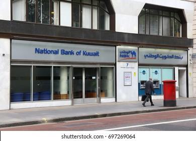 LONDON, UK - JULY 7, 2016: National Bank of Kuwait branch in London. NBK has total assets of USD 79.22 billion.