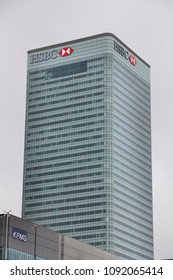 LONDON, UK - JULY 8, 2016: HSBC Tower (8 Canada Square) in Canary Wharf, London, UK. It is the main headquarters of HSBC Bank.