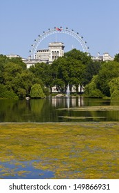 LONDON, UK -Â? JULY 9, 2013: The beautiful view from St. James's Park in London.