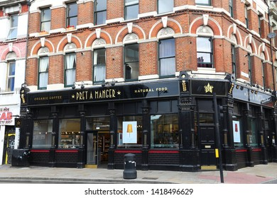 LONDON, UK - JULY 9, 2016: Pret A Manger sandwich store in London. The brand has approximately 500 stores in the UK.