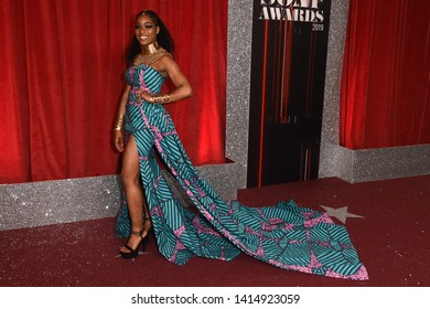LONDON, UK. June 01, 2019: Rachel Adedeji arriving for The British Soap Awards 2019 at the Lowry Theatre, Manchester.Picture: Steve Vas/Featureflash