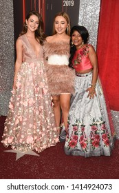 LONDON, UK. June 01, 2019: Lauren McQueen, Ruby O'Donnell & Haiesha Mistry arriving for The British Soap Awards 2019 at the Lowry Theatre, Manchester.Picture: Steve Vas/Featureflash