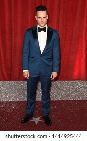 LONDON, UK. June 01, 2019: Jude Monk McGowan arriving for The British Soap Awards 2019 at the Lowry Theatre, Manchester.