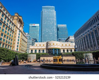 LONDON, UK - JUNE 11, 2015: The Canary Wharf business centre is the largest business district in the United Kingdom (HDR)