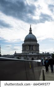 London, UK. - June 12, 2017 views of St. Paul cathedral in London, Uk./ St. Paul.