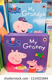 London, UK: June 16, 2018: Children's book with Granny and Grandpa in the titles. Peppa Pig is a British pre-school animated television series. Ladybird Books is part of the Penguin Group, London.