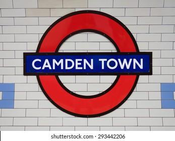 LONDON, UK - June 17, 2015: Camden Town underground station in London. London Underground is the 11th busiest metro system worldwide with 1.1 billion annual rides.