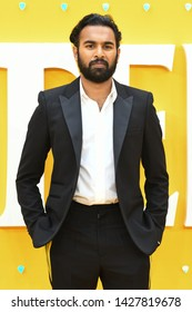 "LONDON, UK. June 18, 2019: Himesh Patel arriving for the UK premiere of ""Yesterday"" at the Odeon Luxe, Leicester Square, London.