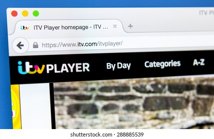LONDON, UK - JUNE 19TH 2015: The ITV Player website, on 19th June 2015.