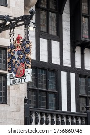 London UK. June 2020. Facade of Liberty of London luxury store on Regent Street in the West End of London.