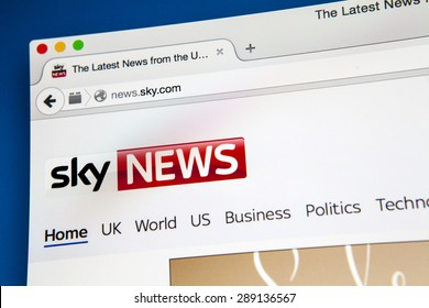 LONDON, UK - JUNE 20TH 2015: The homepage of the Sky News website, on 20th June 2015.
