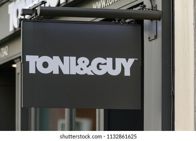 London, UK - June 25 2018: A sign outside a Toni & Guy salon on a central London high street