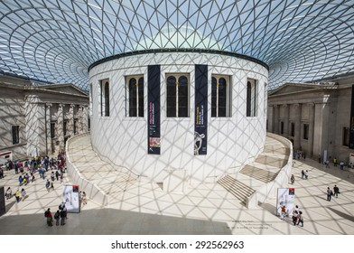 LONDON, UK - JUNE 30TH 2015: The magnificent Great Hall of the British Museum in London on 30th June 2015.