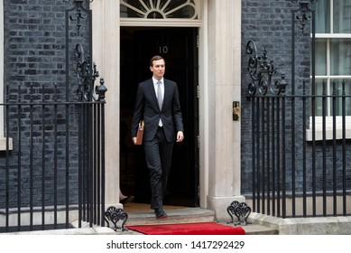 London, UK - June 4 2019: Jared Kushner, son in law and senior adviser to President Trump departs  Downing Street  This is day two of the US Presidents state visit.