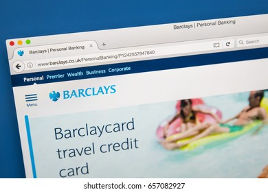 LONDON, UK - JUNE 8TH 2017: The homepage of the official website for Barclays Bank, on 8th June 2017.