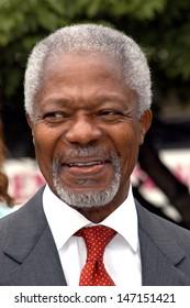 London, UK. Kofi Annan at the launch of the campaign to support the UN Millenium Developement Goals. 06 July 2005 Chris Joseph/Landmark Media