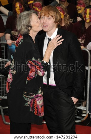 e79f6e07c2c6 Maggie Smith and Rupert Grint at the World Premiere of  Harry Potter and  ther Half Blood Prince  at the Odeon Leicester Square