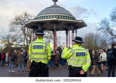 London, Uk - Mar 13 2021, Thousands of people attended the vigil for Sarah Everard in Clapham Common.