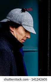 LONDON, UK - MAR 15: Benedict Cumberbach spotted filming 'Sherlock' in London on the MAR 15, 2013 in London, UK