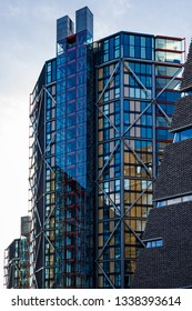 LONDON, UK - MARCH 11 : Modern building next to the Tate Modern in London on March 11, 2019
