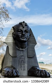 LONDON, UK - MARCH 11 : The Sphinx on the Embankment in London on March 11, 2019