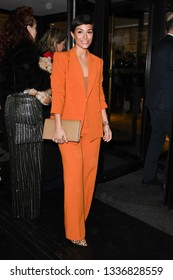 LONDON, UK. March 12, 2019: Frankie Bridge arriving for the TRIC Awards 2019 at the Grosvenor House Hotel, London.Picture: Steve Vas/Featureflash