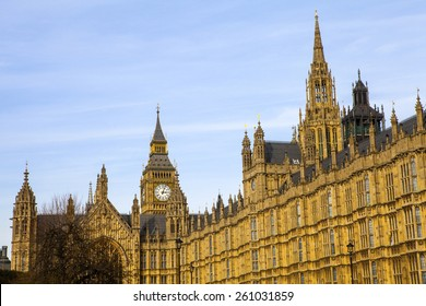 LONDON, UK - MARCH 12TH 2015: The Houses of Parliament in London on 12th March 2015.