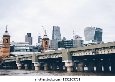 LONDON / UK - March 15, 2018: A view on the City in London