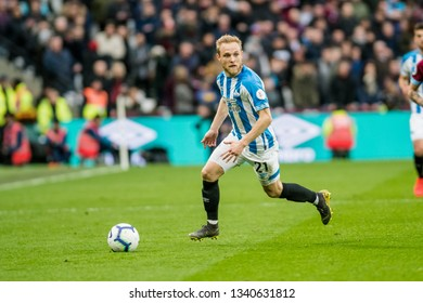 London, UK - march 16 2019: Alex Pritchard of Huddersfield Town  during the Premier League match between West Ham United and Huddersfield Town at the London Stadium, Queen Elizabeth Olympic Park