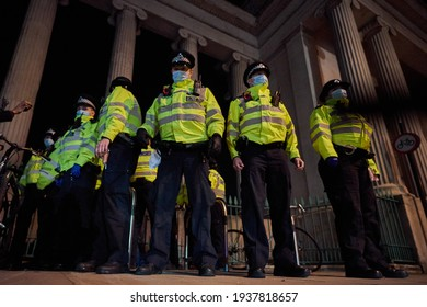 London, Uk. March 16 2021. Thousands people protested against the new law that will restrict the right to protest when lockdown restrictions ease
