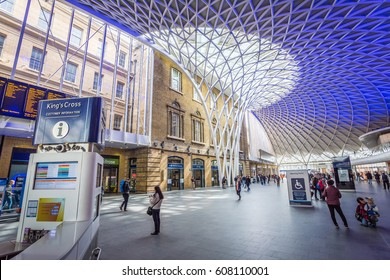 LONDON, UK - MARCH, 2016: Interior of the London King's Cross railway station