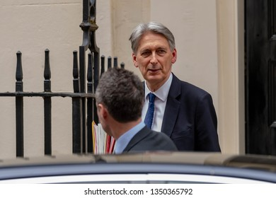 LONDON UK MARCH 26TH 2019 Philip Hammond MP PC, Chancellor of the Exchequer, leaves 11 Downing Street, London