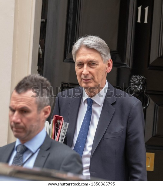 LONDON UK MARCH 26TH 2019 Philip Hammond MP PC, Chancellor of the Exchequer ,leaves 11 Downing Street, London